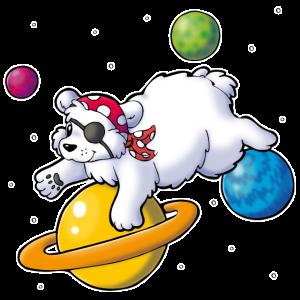Piraten Eisbär im Weltall