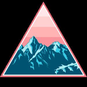 Gebirge Berge Schneebedeckt im Dreieck