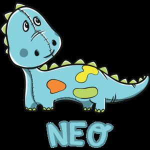 Dinosaurier lustig Kind Neo Geschenk Geburtstag