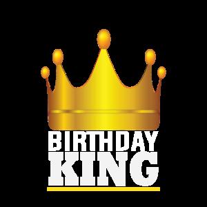 Gold Crown Birthday King Geburtstagskind König