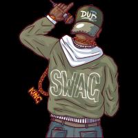 Rapper mit Goldkette und swag