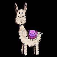 Fluffiges Lama - Alpaka - Comic - Geschenk