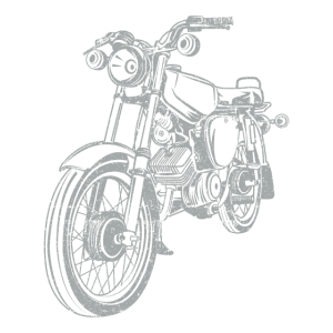 Simson S51 Vintage Lineart Silhouette