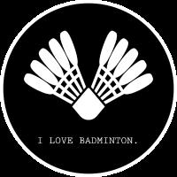 Badminton i love badminton Icon schwarz weiss