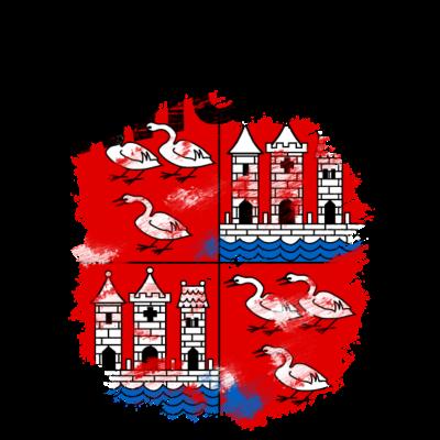 Zwickau - Wappen der Stadt Zwickau mit schwarzem Titel - Zwickau,Wappen,Sachsen