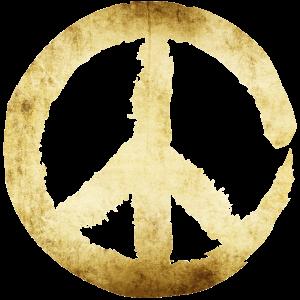 Peace Zeichen - Gold