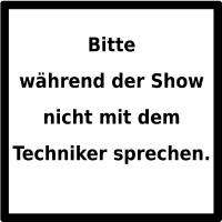 Warnhinweis: Techniker. (black/white)