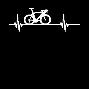 Fahrrad Rennrad Herzschlag Puls Geschenk