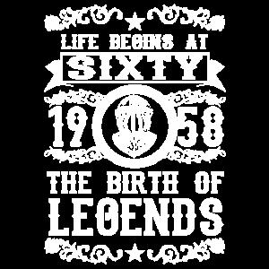 1958 60 60. Birthday years Legends gift