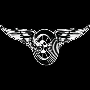 Motorrad / Moped Rad / Angel Wheel 01_schwarz weiß