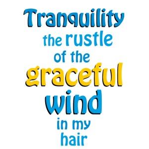 tranquillità il fruscio del vento