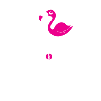 Flamingo - Born To Stand Out - Geschenk Print