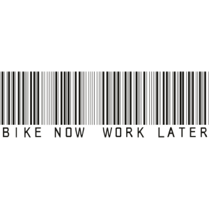 bike now work later bar code