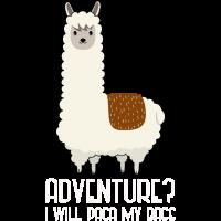 Abenteuer-Alpaca | lustig und süß