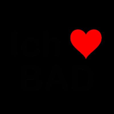 Ich liebe BAD - Baden-Baden   Heimat   Geschenk - Für alle Heimatverbundenen aus Baden-Baden (BAD) und Umgebung. Bekanntes Design mit Herz und Kennzeichen-Buchstaben BAD. Das Kennzeichen leitet sich ab von BADen-Baden aus Baden-Württemberg… - Autos,Geschenkidee,Baden-Baden,Liebe,Autokennzeichen,Heimat,Kennzeichen,Heimatliebe,BAD,Baden-Württemberg,Geschenk,Auto