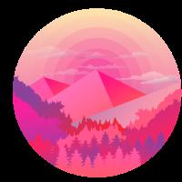 Berge Pyramide Sonne Wald