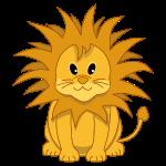 Nette Karikatur-Löwe-Jungen