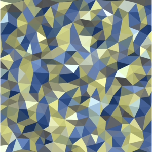 Gold Blue Crystal