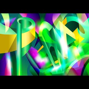 ACID GREEN abtracto Kubismus Art Digital # 07