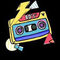 Kassette Musik 80s Geschenk Pop Style