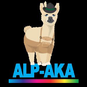 Lama Alpaka Comic Tier Trend Fun Alpen Geschenk