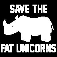 Speichern Sie das fette Einhörner-T-Shirt