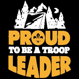 Stolz, ein Truppe-Führer-Hemd zu sein