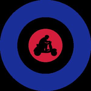 Target mit Rollerfahrer