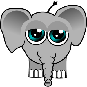 Elefantenbaby muede
