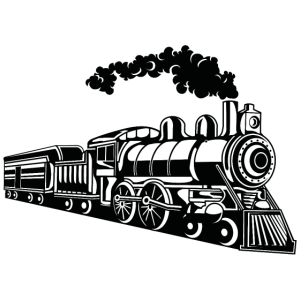Lokomotive / Locomotive 02_schwarz weiß