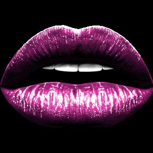 Lippen pink Lippenstift Kuss Mund Illustration