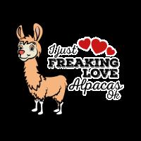 Ich liebe Alpakas Geschenk Alpaka Lama