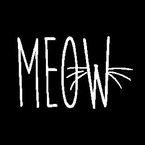 Miau mit Katzenschnurrhaar