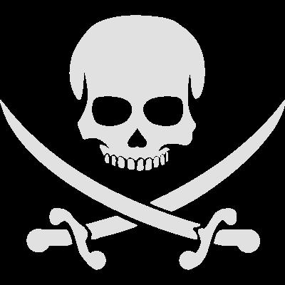 Piratenschädel - Totenkopf mit gekreuzten Schwerte - Schwert,Piratenschädel,Piratenschiff,Piratenpartei,Piratenkopf,Piratenflagge,Piratenbucht,Pirat