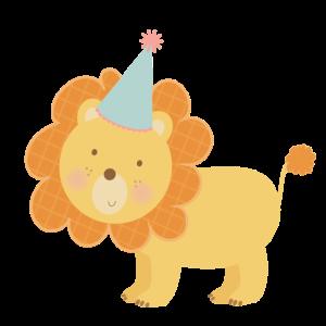 Löwe Kinder Baby Design Illustration Geburtstag