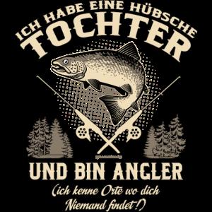 Tochter Angler - Geburtstags Geschenk - RAHMENLOS Shirt Design Kopie