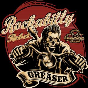 Rockabilly Rebel Gasoline Bandit Greaser Biker Shirt Kopie