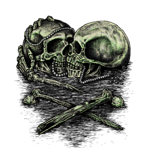 Skull Halloween Biker love mft - Present