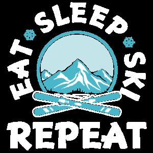 Skifahren-lustiges Hemd