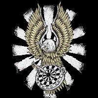 Dart Eagle - Dart T-Shirts RAHMENLOS - Sport Club Verein Geschenk