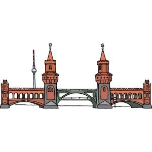 Oberbaumbrücke a BERLINO c