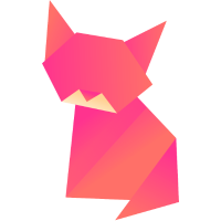 Katze Origami Polygon