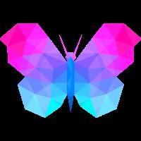 Schmetterling Origami Polygon