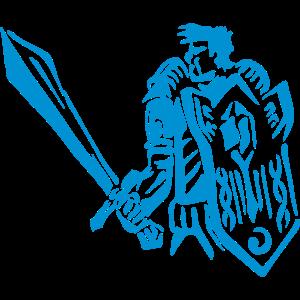 Mann Krieger Paladin RPG Tank Fantasy Geschenk
