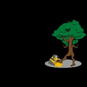 Rache der Natur Baum besiegt Bagger Naturschutz