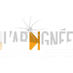 L'Araignée, le logo clair pour fond foncés