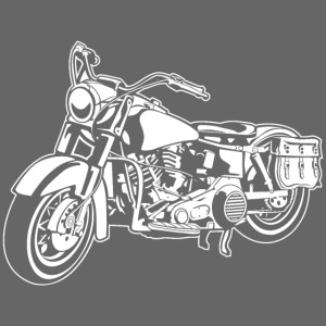 Chopper Motorrad 10_weiß