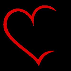 Herz mit Diamantring in rot schwarz