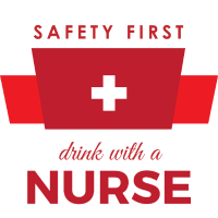 Safety first - Drink with a nurse color