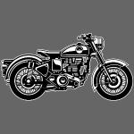 Motorrad / Classic Motorcycle 04_schwarz weiß